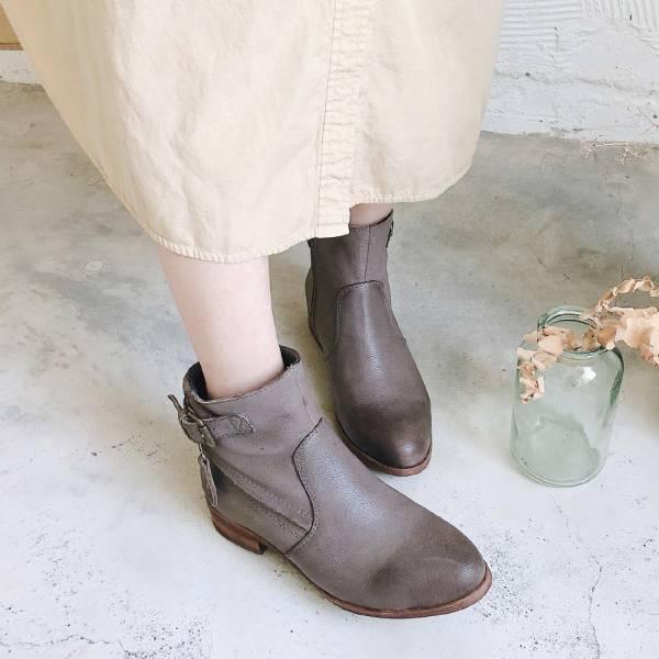 【預購】世界系列-雙色感斜切口工作鞋-灰