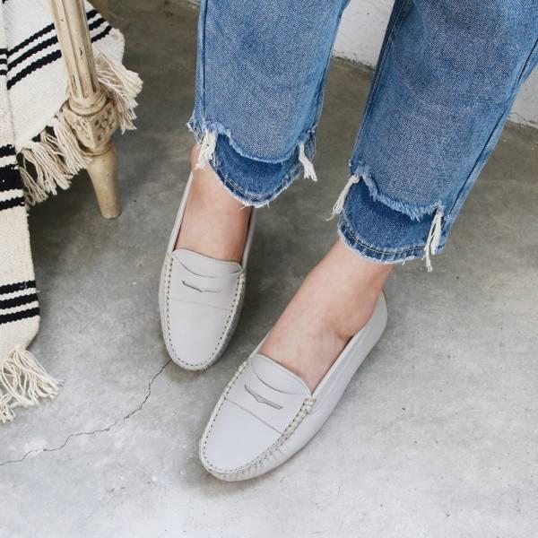 【訂製】流蘇2way樂福休閒鞋-淺灰