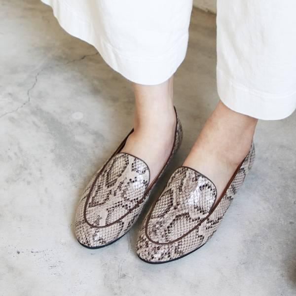 【手工訂製】修飾腳型滾邊歐貝拉_蛇紋