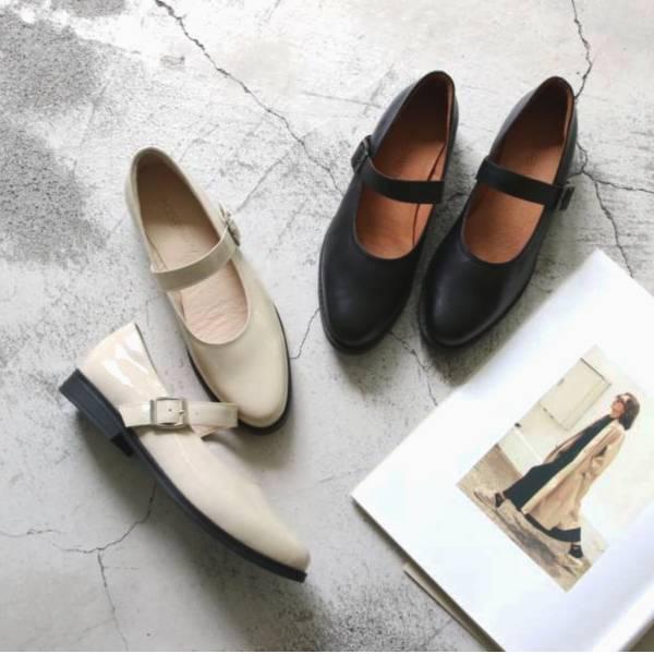 【現貨】日系感 大人的優雅真皮瑪莉珍鞋