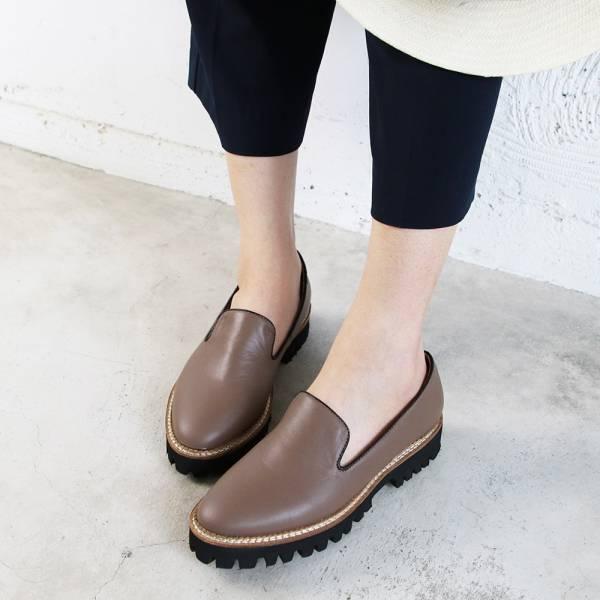 【樣品鞋】真皮厚底歐貝拉-棕23.5