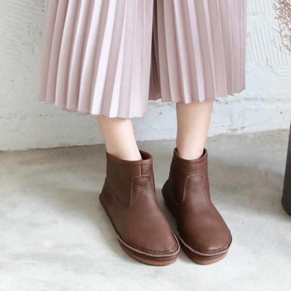 預購【日本製】D'knot一套就走精靈短靴-深棕