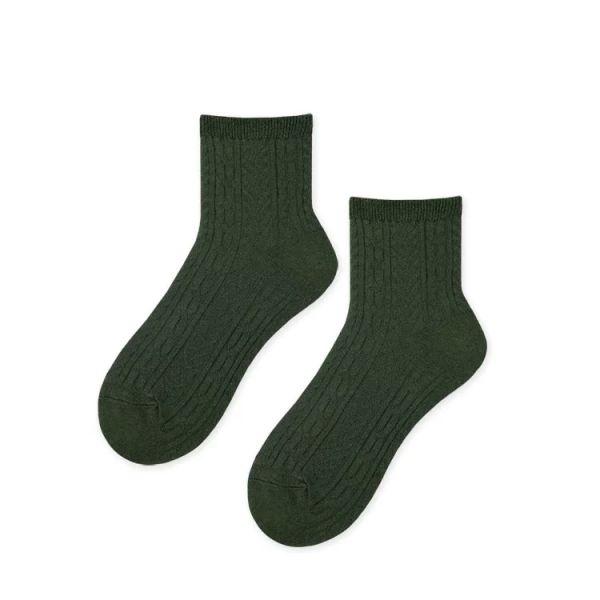 MIT 小浪漫中筒襪・墨綠(女襪)