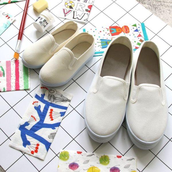 【現貨】蝶古巴特DIY帆布鞋組合_從小培養孩子的品味與美感