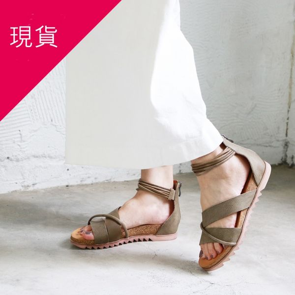 【現貨】世界系列-服貼腳底羅馬涼鞋-卡其綠