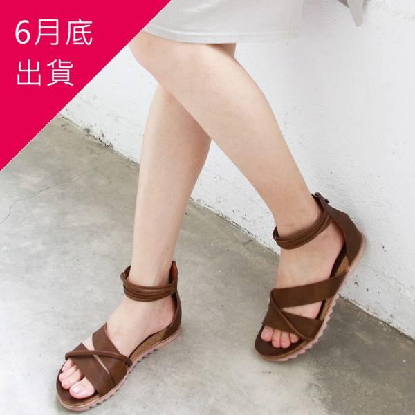 【預購】世界系列-服貼腳底羅馬涼鞋-棕