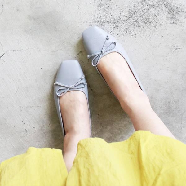 【預購】氣質小方頭芭蕾舞鞋-莫蘭迪紫