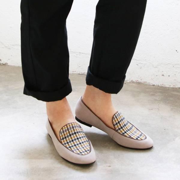 【訂製】修飾腳型滾邊歐貝拉-灰