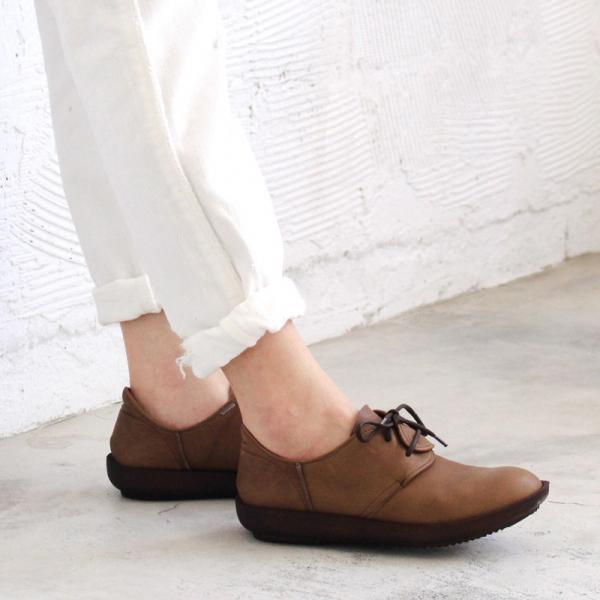 預購【日本製】D'knot柔軟真皮輕量綁帶便鞋-深棕