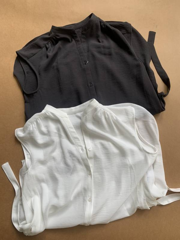 側邊打結造型涼感襯衫(現貨)