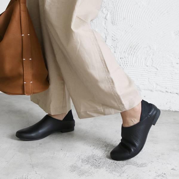 【預購】世界系列_日本製Recipe 2穿休閒穆勒鞋_黑