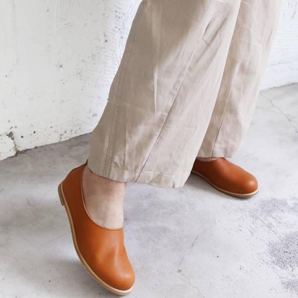 【訂製】世界系列_日本製Recipe真皮大頭鞋/駝