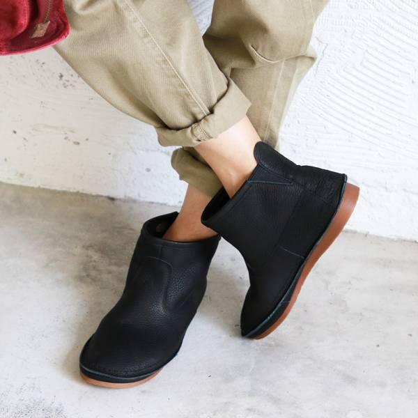 預購【日本製】D'knot一套就走精靈短靴-黑