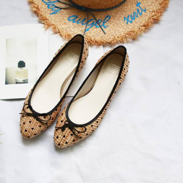 【台南-Bella 訂製】TIAM日本製晴雨兩穿微尖頭芭蕾舞鞋