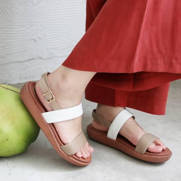 【訂製】Simple+久走不累簡約輕便雙帶涼鞋-裸粉
