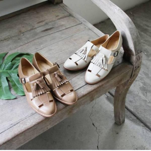 【手工訂製】挖空設計流蘇飾片牛津鞋