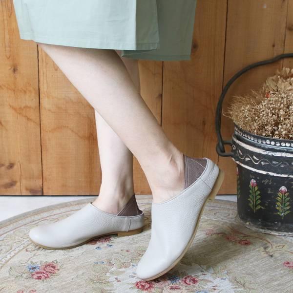【預購】世界系列_日本製Recipe 2穿休閒穆勒鞋_淺灰