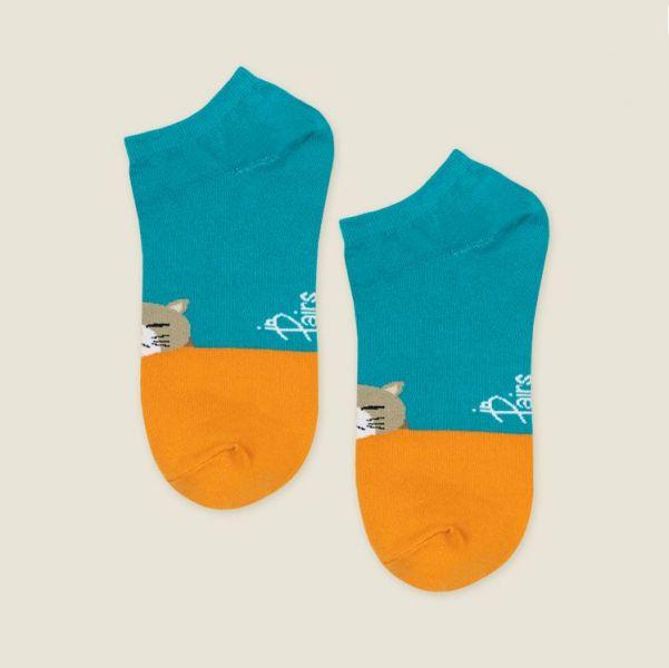 MIT 船型襪-愛睏貓咪(女襪)
