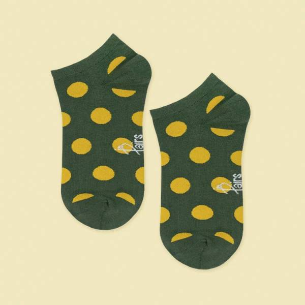 MIT 船型襪-圓點點‧綠(女襪)