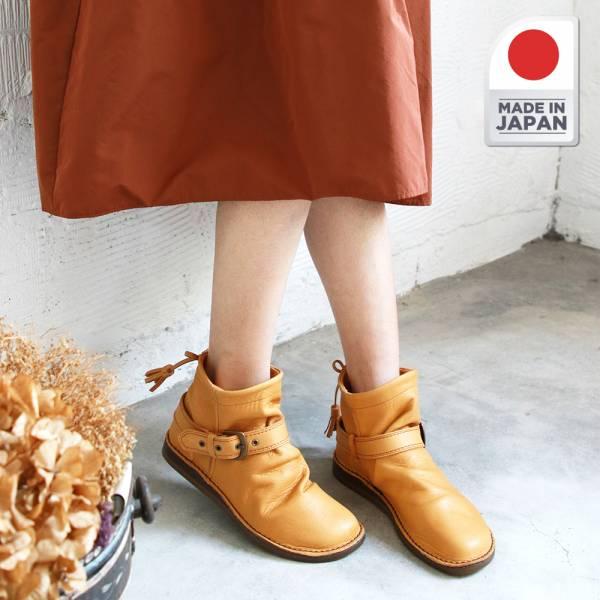 現貨【日本製】TODAY'S植鞣皮2穿柔軟短筒休閒靴-駝LL