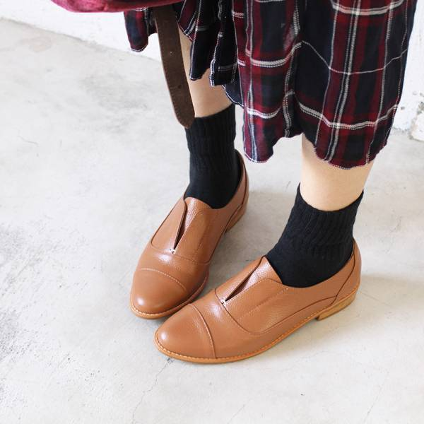 【訂製】簡約真皮復古紳士鞋-駝