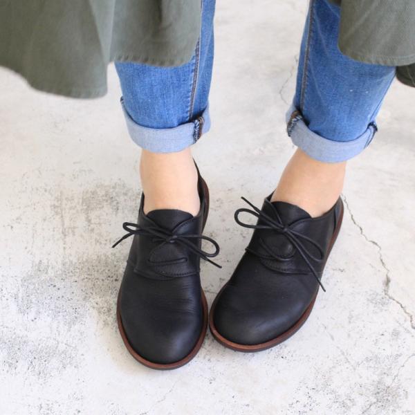預購【日本製】D'knot柔軟真皮輕量綁帶便鞋-黑