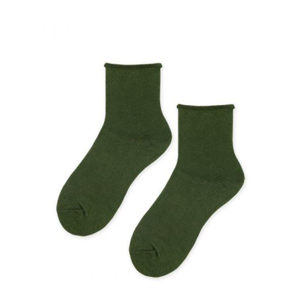 MIT小卷-墨綠(女襪)