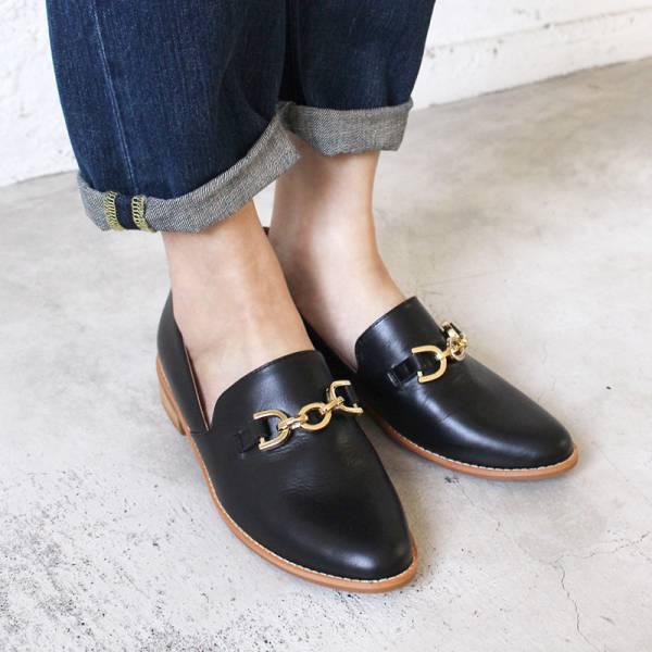 【試穿鞋】大鍊條個性歐貝拉-黑26.0