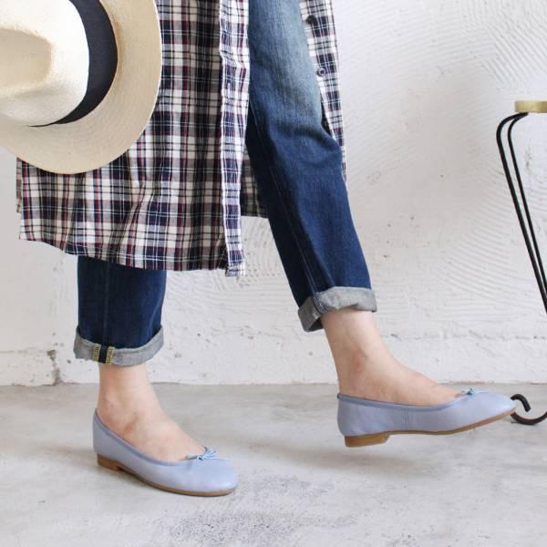 現貨【日本製】Recipe真皮芭蕾舞鞋-水藍(可退不可換)
