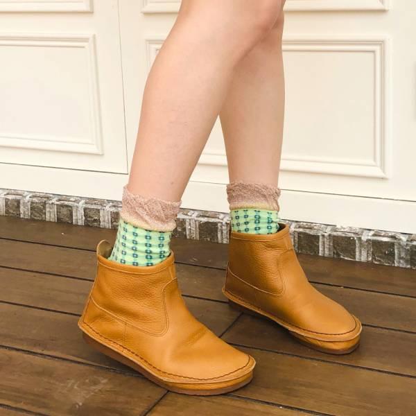 預購【日本製】D'knot一套就走精靈短靴-駝