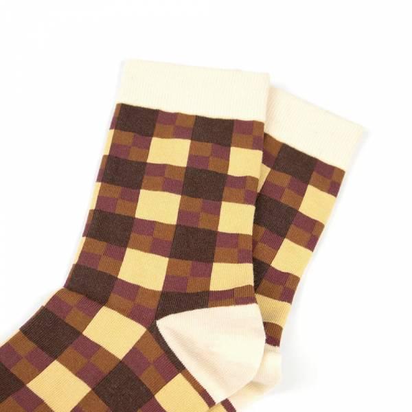 MIT格紋-咖啡(女襪)