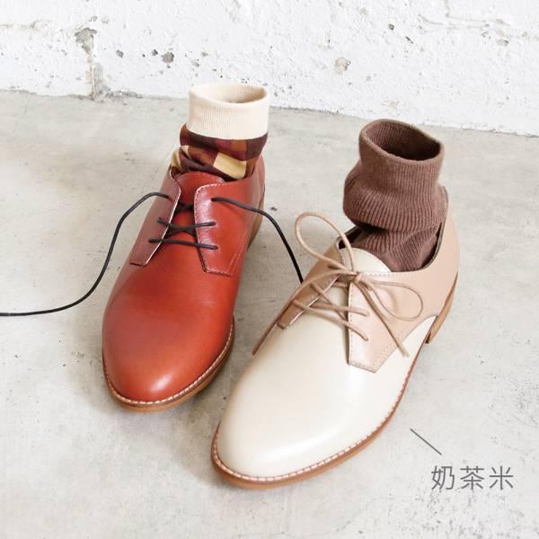 【手工訂製】【人氣色-奶茶米】3.0再改版款_腳型更修長經典德比鞋