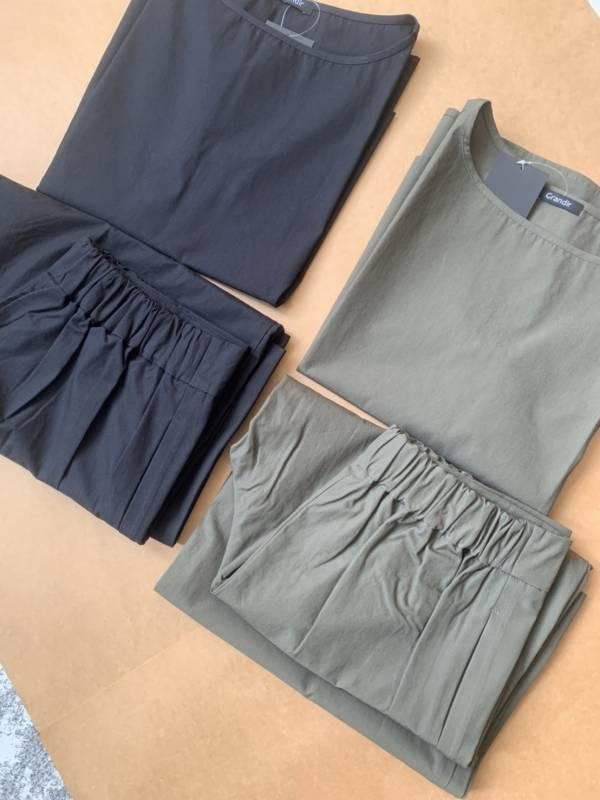 棉質挺版日本製無袖套裝(現+預)
