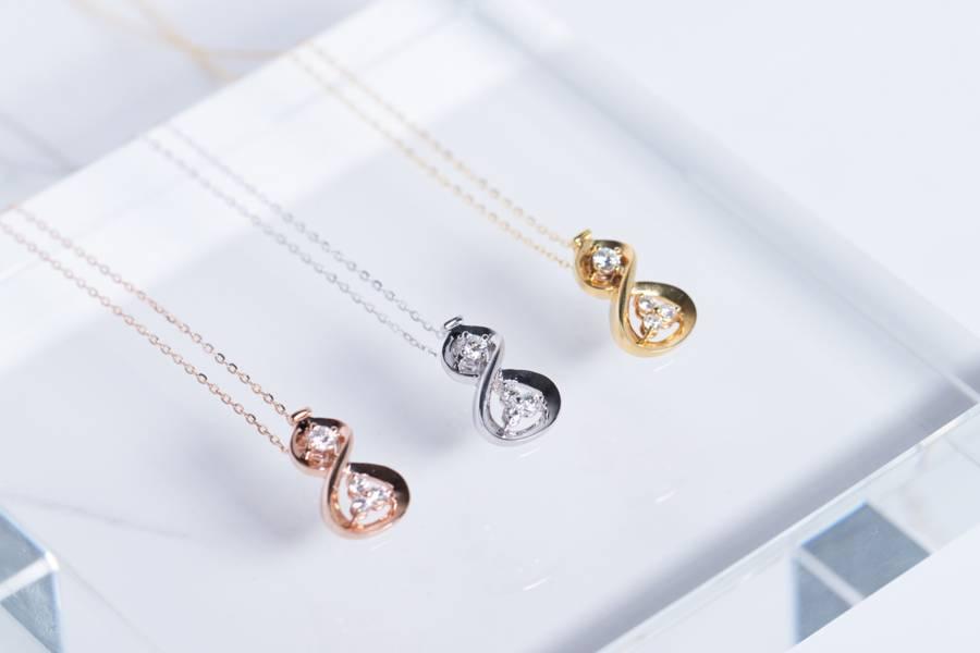 18K金葫蘆鑲鑽項鍊 項鍊推薦,項鍊,項鍊女,招財飾品,招財首飾,金項鍊,鑲鑽,鑲鑽項鍊,送禮推薦,送禮送什麼,送禮長輩,送禮項鍊,旺財風水