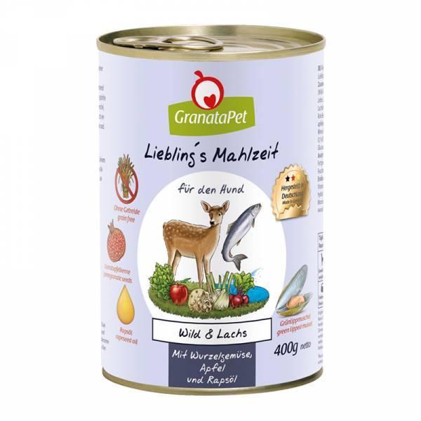 葛蕾特 狗罐 利布靈無穀主食罐系列 2號 鹿肉鮭魚佐根莖類蔬果 400g