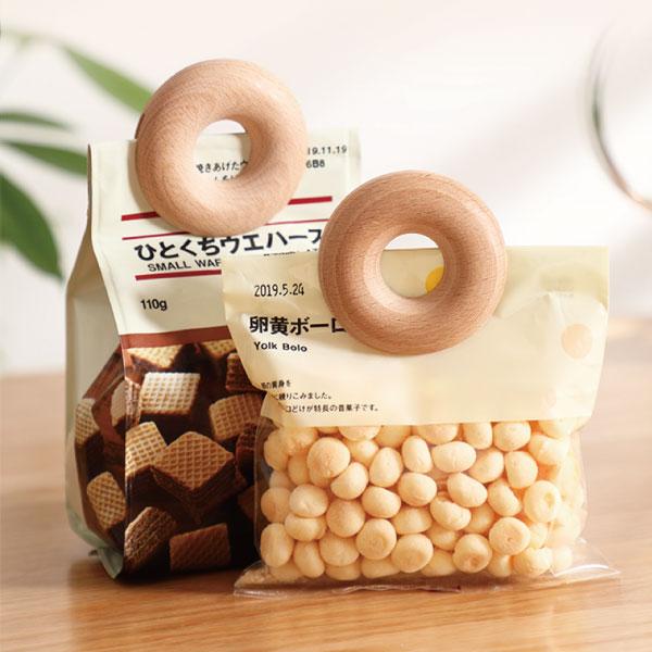 甜甜圈密封夾(2入) 甜甜圈,密封,夾,防潮,可愛,設計,櫸木,日本