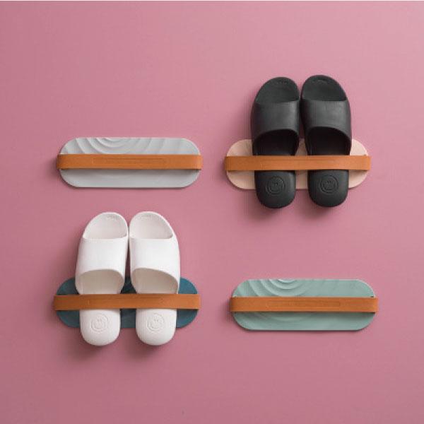 北歐風-壁掛式拖鞋架