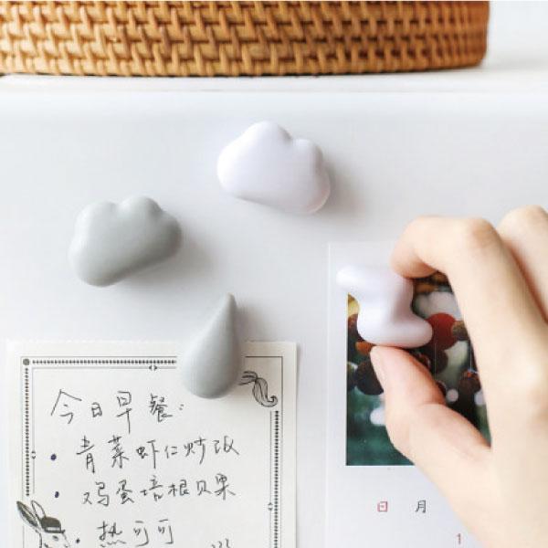 小雲朵冰箱磁鐵(6入) 冰箱,磁鐵,廚房,可愛,日式,留言,辦公室