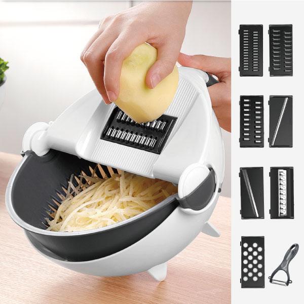 多功能切菜器(含八款切絲片) 多功能,切菜,器,切片,料理,瀝水,廚房,刀