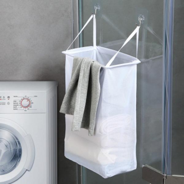 壁貼式髒衣籃 壁貼式,髒衣籃,收納,浴室,臥室,免釘,免鑽,容量大
