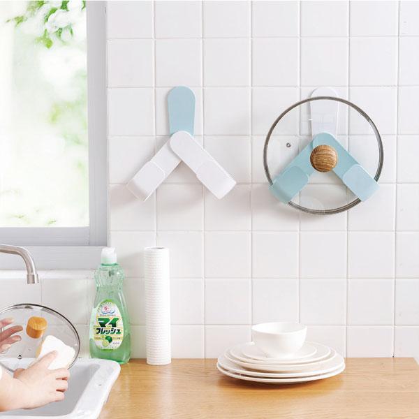省空間壁貼鍋蓋架 收納,壁貼式,廚房,料理,日式,省空間