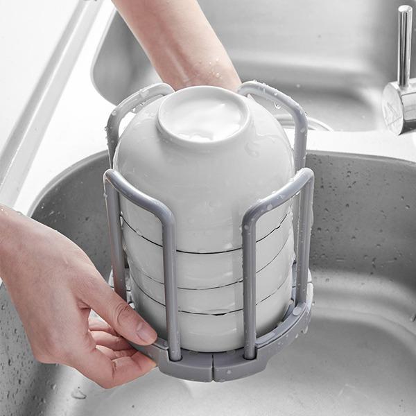 疊疊樂伸縮碗架(白色) 碗,收納,瀝水,通風,廚房
