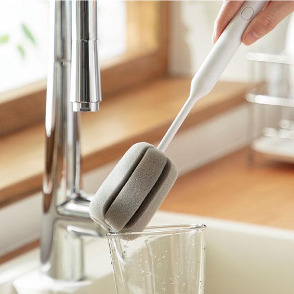 大海綿洗杯刷 洗杯刷,廚房,深入杯底,清除水垢,茶漬,節省空間,適合多種容器