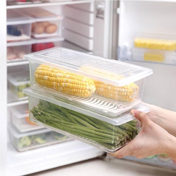 長型冰箱保鮮盒 長型,冰箱,保鮮,盒,冷藏,密封,瀝水,防潮