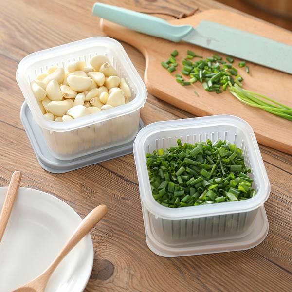 可瀝水蔥蒜盒 瀝水,蔥,蒜,盒,密封,新鮮