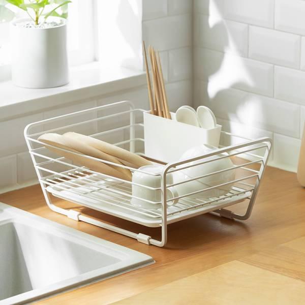 碗盤瀝水架 碗盤,瀝水,架,籃,鐵,日式,洗碗,設計,餐盤