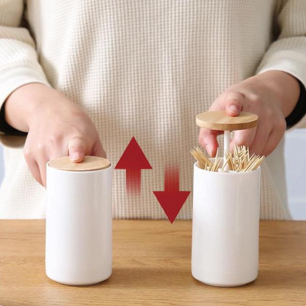 按壓式棉籤筒 按壓式,棉籤,筒,牙籤,棉花棒,小叉子