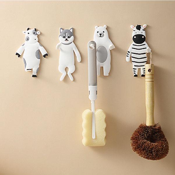 動物星球壁貼掛鉤 可愛,日式,動物,壁貼,掛鉤,收納,可彎曲