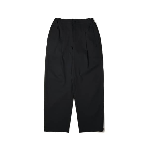 oqLiq x plain-me outline stitch pants - black