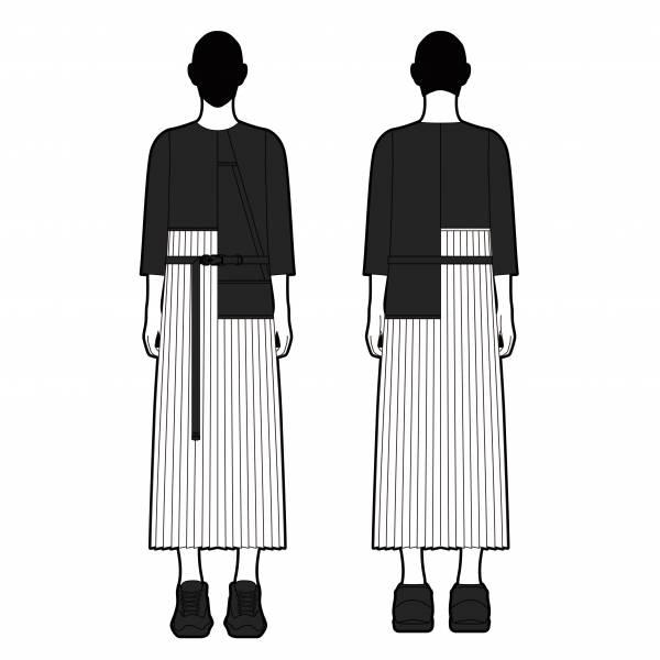 oqLiq 2021SS - Nature's Blessing - inside out dress - black/white